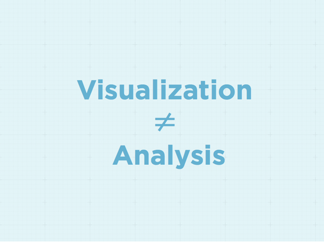 Don't Confuse Visualization for Analysis