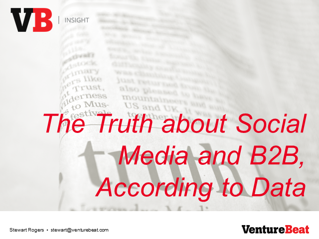 The Truth about Social Media and B2B, According to Data