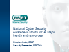 What are the Top Topics during National Cyber Security Awareness Month?