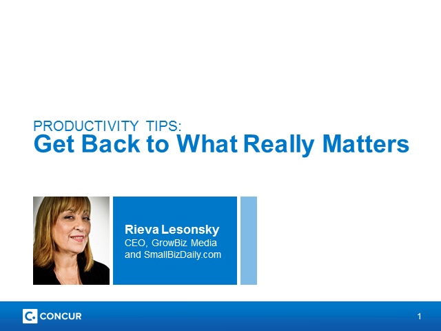 Productivity Tips: Get Back to What Really Matters