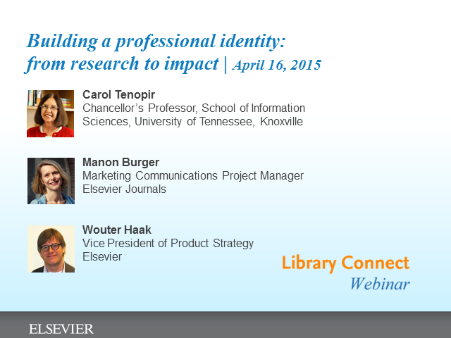 Building a professional identity - From research to impact