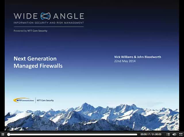 Next Generation Managed Firewalls