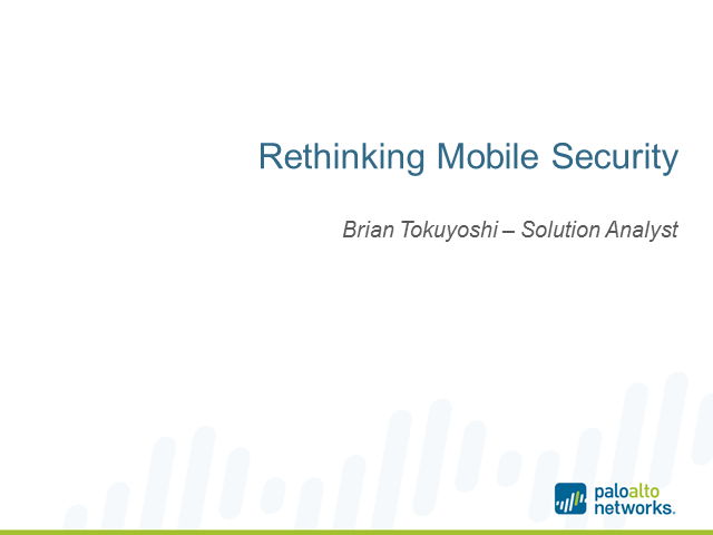 Rethinking Mobile Security