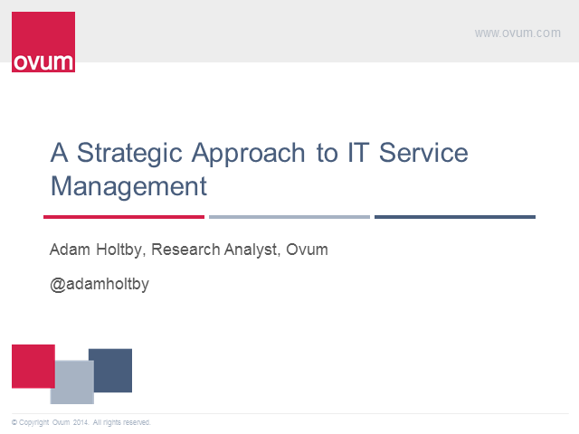 A Strategic Approach to IT Service Management