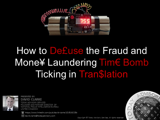 How to De£use the Fraud and Mone¥ Laundering Tim€ Bomb Ticking in Tran$lation