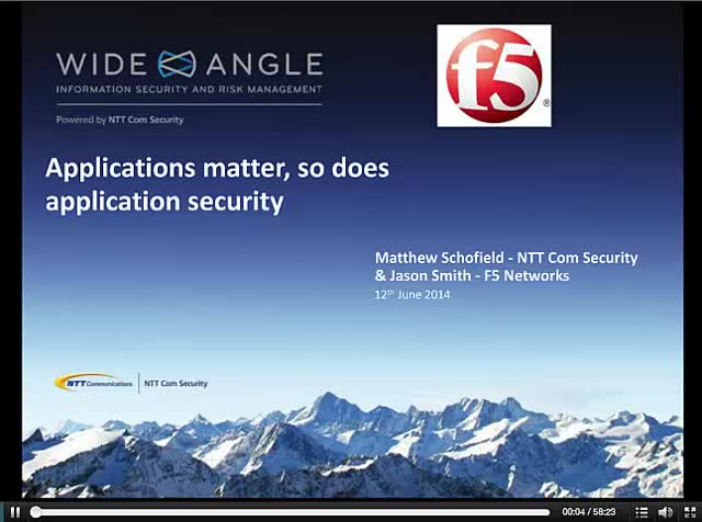 Applications Matter. So does Application Security
