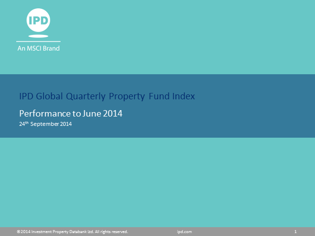 IPD Global Quarterly Property Fund Index - Q2 2014 results