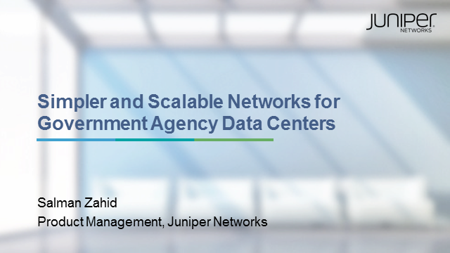 Simple and Scalable Networks for Government Agency Data Centers