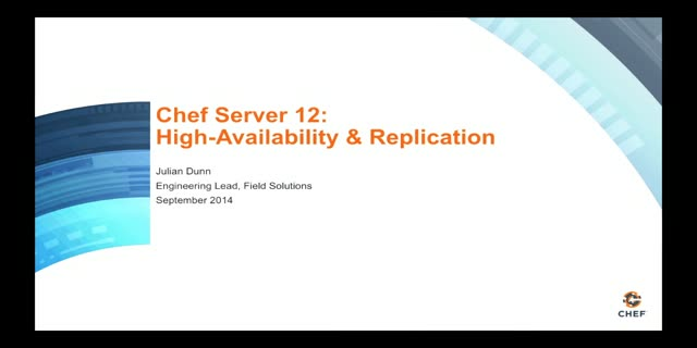 Running Chef Server with High Availability and Replication