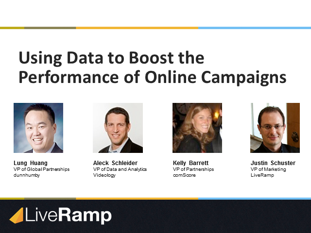 How To Use Data to Boost the Performance of Online Campaigns