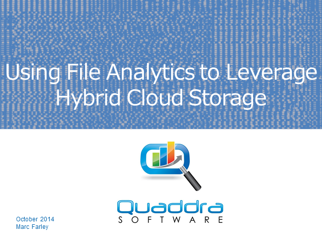 Using File Analytics to Leverage Hybrid Cloud Storage