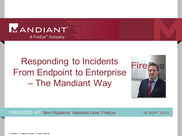 Webinar: Responding to Single System to Enterprise-Wide Incidents
