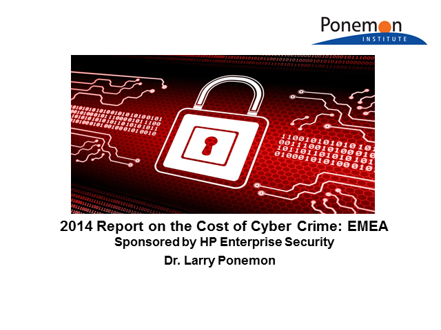 5th Annual Ponemon Cost of Cyber Crime Study Results: EMEA