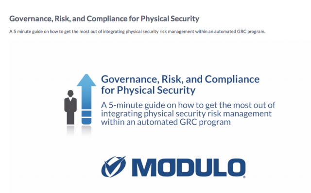 Governance, Risk, and Compliance for Physical Security