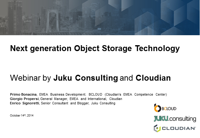 Next Generation Object Storage Technology by Enrico Signoretti
