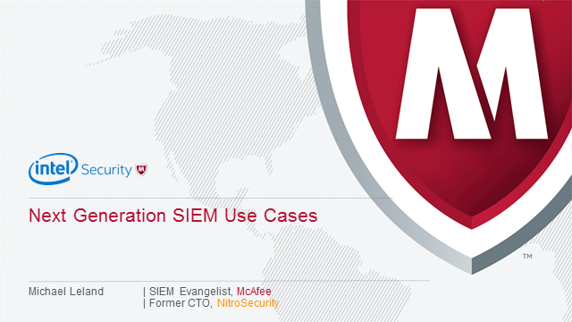 Next Generation SIEM Usecases