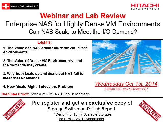 Enterprise NAS for Highly Dense VM Environments