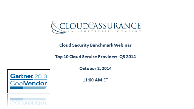 Cloud Security Benchmark: Top 10 Cloud Service Providers Q3 2014