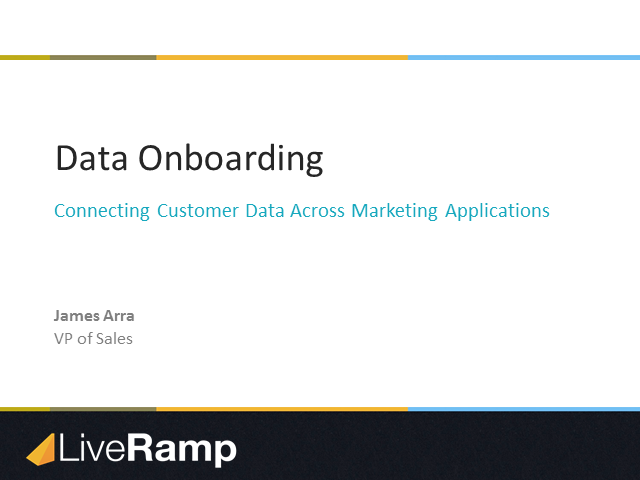 Data Onboarding: Connecting Customer Data Across Marketing Applications
