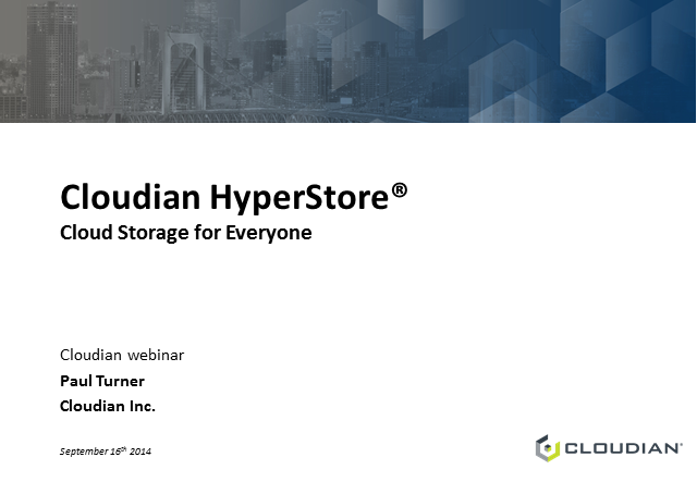 "The next data center trend: ""Cloud Storage for Everyone"""