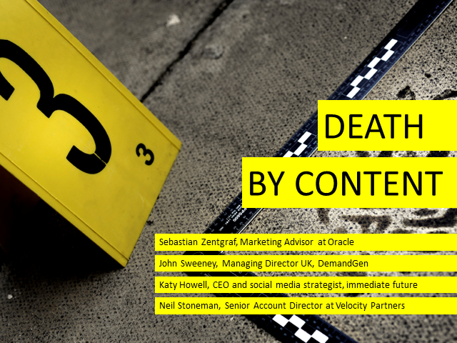Panel Session: Death by Content