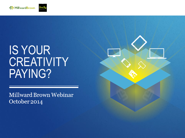 Is your creativity paying? Europe, Middle-East & Africa webinar