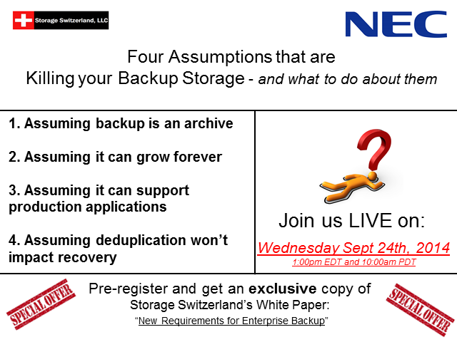 Four Assumptions that are Killing Your Backup Storage