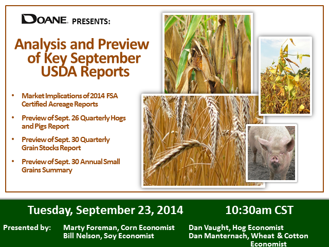 Analysis and Preview of Key September USDA Reports