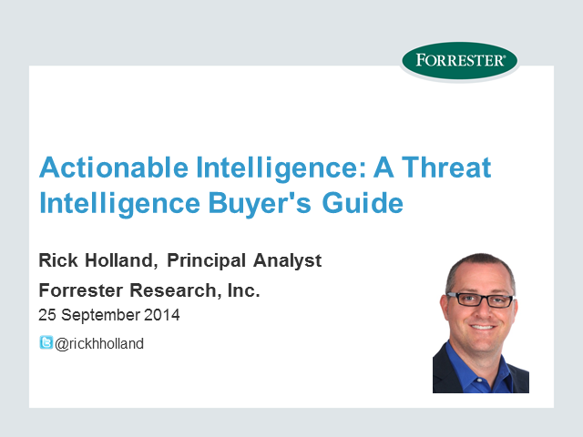 Actionable Intelligence: A Threat Intelligence Buyer's Guide