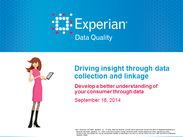 Driving consumer insight through data collection and linkage
