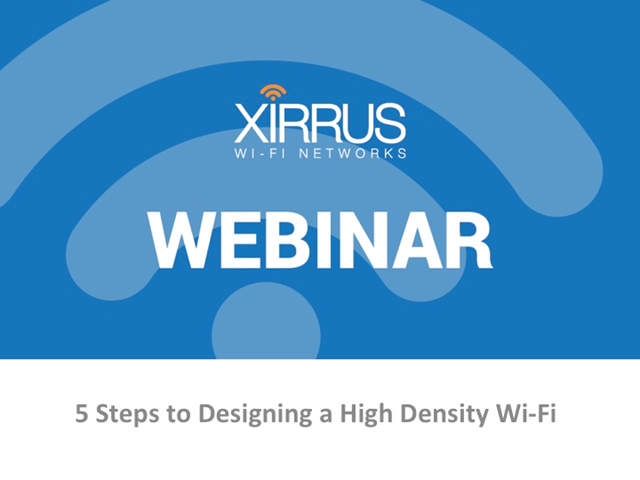 5 Steps to Designing a High Density Wi-Fi
