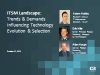 ITSM Landscape: Trends & Demands Influencing Technology Evolution & Selection