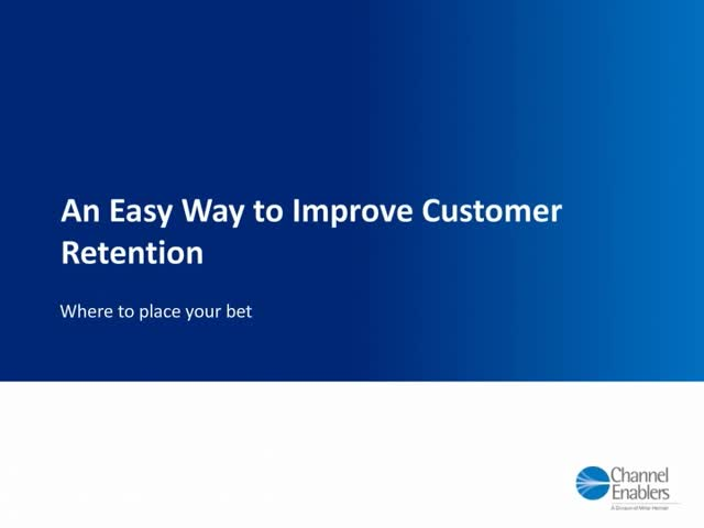 An Easy Way to Improve Customer Retention