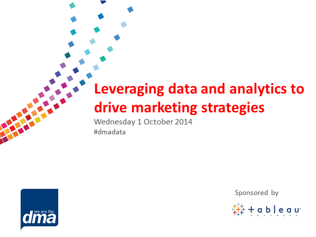 Leveraging data and analytics to drive marketing strategies