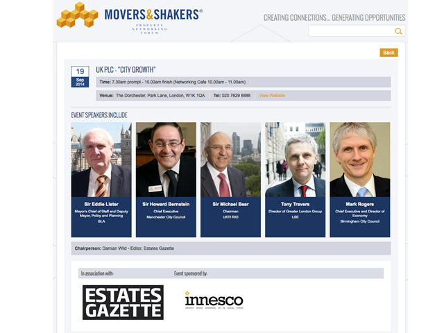 Movers & Shakers Breakfast: UK PLC - City Growth