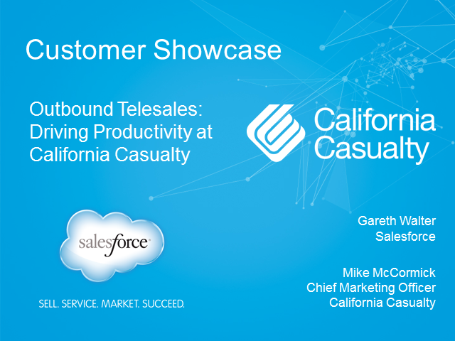 Outbound Telesales in Insurance - Driving Productivity at California Casualty