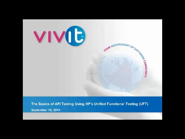 The Basics of API Testing Using HP's Unified Functional Testing (UFT)
