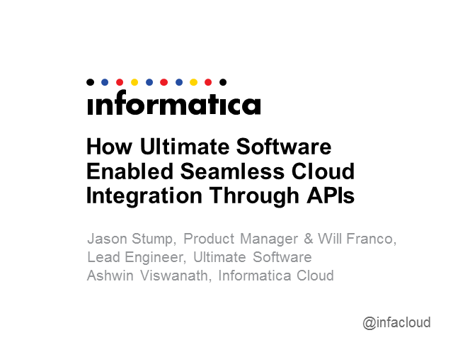 How Ultimate Software used its APIs to enable seamless cloud integration
