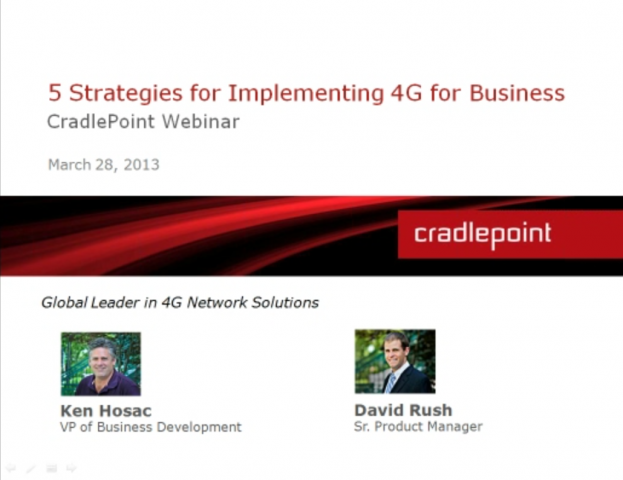 5 Strategies for Implementing 4G for Business