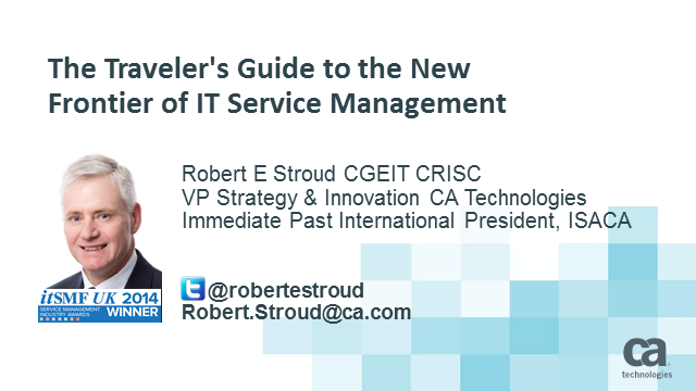 The Traveler's Guide to the New Frontier of IT Service Management  (1 priSM CPD)