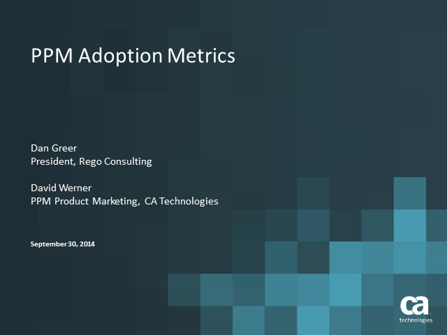 PPM Adoption Metrics