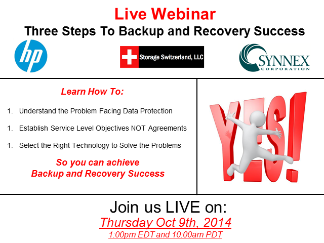 Three Steps to Backup & Recovery Success