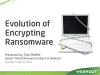 Evolution of Encrypting Ransomware