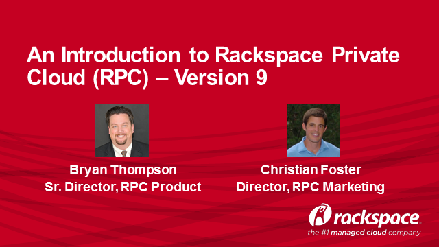 Rackspace Private Cloud v9.0 – What's New?