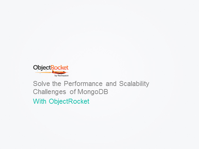 Solve the Performance and Scalability Challenges of MongoDB