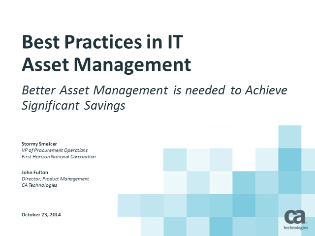 Software Asset Management – Do It Right The First Time