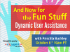 And Now for the Fun Stuff: Dynamic User Assistance