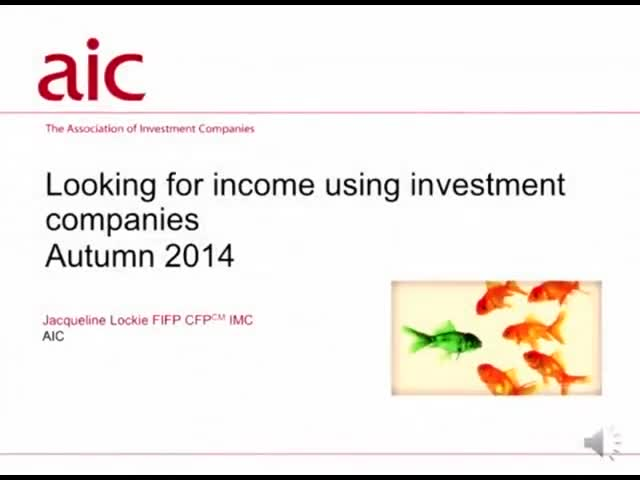 Looking for income using investment companies
