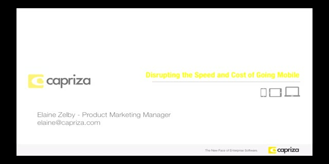 Disrupting the Speed and Cost of Taking Your Business Mobile