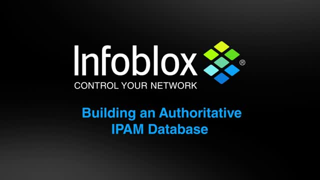 Building an Authoritative IPAM Database